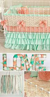 elegant mint sheet set inspirational mint peach baby bedding girl crib bedding baby girl bedding c