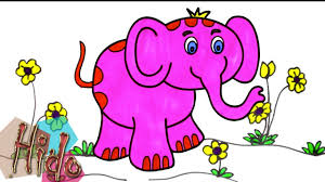 colorful elephant drawings. Contemporary Colorful How To Draw Colorful Elephant  Art Coloring Pages For Kids Drawing And  With Songs Intended Colorful Drawings P