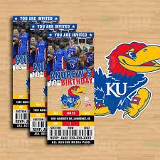 Ku Basketball Seating Chart 2 5 X 6 Kansas Jayhawks Sports Party Invitations Sports Invites