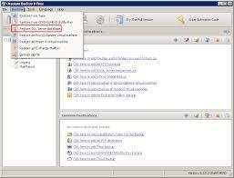 restoring a sql server database