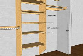 Standard Coat Rack Height Closet Shelving Layout Design THISisCarpentry 73