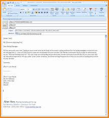 Email Body When Sending Resume