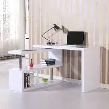 homcom high gloss computer pc desk storage display shelf shelving wooden bookcase bookshelf divider white