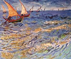 seascape at saintes maries painting vincent van gogh seascape at saintes maries art