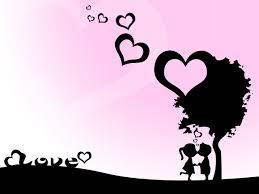 Black And White Cartoon Couple Wallpaper