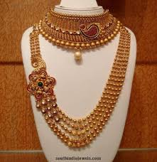 Gold Necklace And Haram Set Designs Grand Bridal Choker And Haram Set Gold Jewellery Design