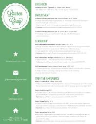 Colorful Resume Examples Lauren Gray Resume Design this could almost be my resume it's 5