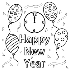 Small Picture Happy New Year Coloring Book