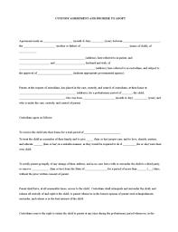 child visitation agreement form child visitation agreement template sample custody agreement