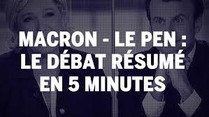 Debat Macron Le Pen Resume