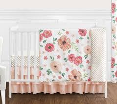 watercolor fl 4 piece crib bedding