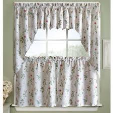 Valance Kitchen Curtains Kitchen Adirondack Cotton Kitchen Window Curtains With White Or