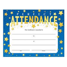 Perfect Attendance Certificate Free Sample Perfect Attendance