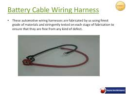 automobile wiring harness in pune neptune enterprises battery cable wiring harness 5