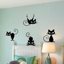 cute funny cute cat wall decal sticker