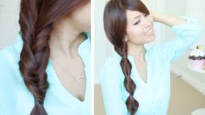 Quick Hairstyles For Braids Quick Easy Faux Braid Hairstyles For Medium Long Hair Tutorial