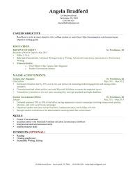 Resume Examples For Jobs With No Experience Sample College Students