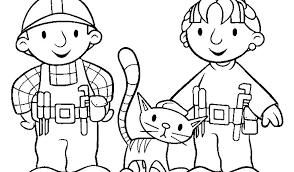 Tekeningen Bob De Bouwer Dibujos Para Colorear