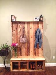 Boot Bench With Coat Rack Ikea Coat Rack And Shoe Bench With Reclaimed Pallet Wood Also Cast 18