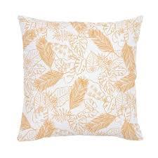 orange accent pillows. Light Orange Palm Leaves Throw Pillow Accent Pillows O