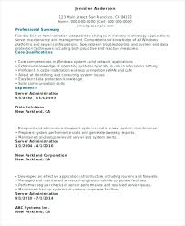 Server Administration Resume Template Maintenance Email Notification ...