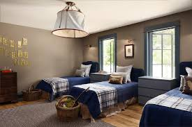navy blue twin beds with gray ikea malm
