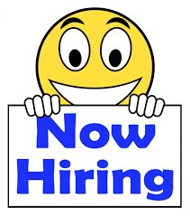 stock photo of now hiring on sign shows recruitment online image of now hiring on sign showing recruitment online hire jobs