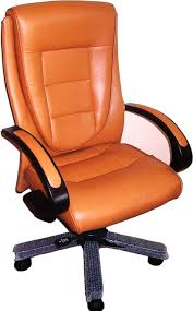 orange office furniture. EXECUTIVE LEATHER OFFICE CHAIR, HIGH BACK WITH WOODEN LEGS Orange Office Furniture