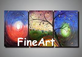 2019 handmade painting canvas sets contemporary tree oil painting modern art paintings wall decoration es decoration home from kungfuart