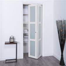 white frosted glass closet door