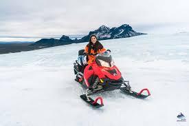iceland snowmobile tours on langjokull