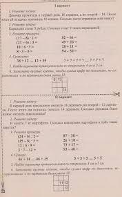 Календарно тематическое планирование класс УМК Школа России  Контрольная работа № 2 по теме