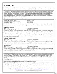 Childcare Resume Resume Example For Nanny Best Of Unusual Design Child Care Resume 49