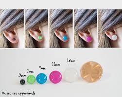 Earring Stud Size Guide In 2019 Sterling Silver Earrings
