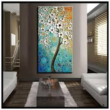 2018 abstract canvas wall art modern acrylic textured white cherry blossom tree oil painting on canvas for living room decoration from motocyle  on interior design canvas wall art with 2018 abstract canvas wall art modern acrylic textured white cherry