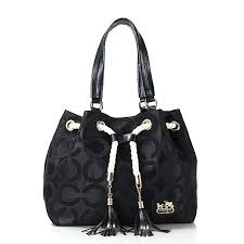 Coach Julia Logo Medium Black Totes FEO