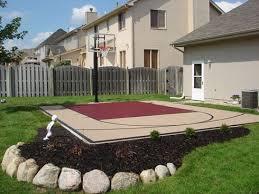 diy backyard basketball court. Contemporary Diy 20u0027 X 25u0027 Basketball Court In Diy Backyard