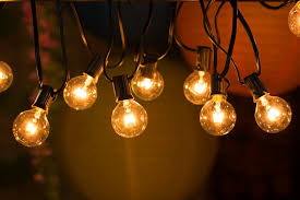 lighting pic. 50ft g40 globe string lights with clear bulbs for indooroutdoor commercial decor outdoor patio backyard pergola market cafe bistro lighting pic