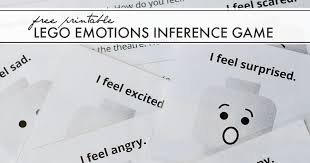 Lego Feelings Chart Free Printable Lego Emotions Inference Game And Next Comes L