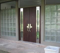 modern double entry doors with glass