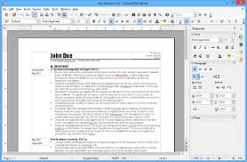 Resume Templates Open Office Free Impressive Onetime MS Office Challenger OpenOffice We May Shut Down Due To