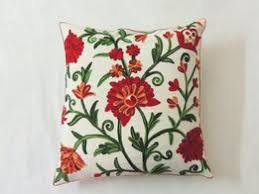 pillow 24x24. 24x24 floral custom embroidered pillow cover designer decorative sham throw euro toss cushion case suzani india