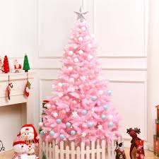 Light Pink And White Christmas Tree Us 79 66 1 2m Cherry Blossom Pink Christmas Tree Decoration Deluxe Encrypted Christmas Tree Gifts With Led Lights Colorful Ball Decor On Aliexpress