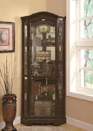corner curved mini bar. Corner Brown Wooden Bar Cabinet With Transparent Glass Door Also Curved Short Base On Ceramics Flooring . Mini