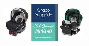 the graco snugride 35 vs 40
