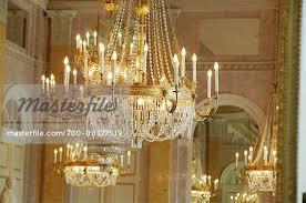 chandelier in the albertina museum vienna austria stock photo