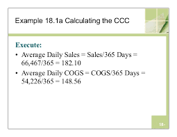 Sales Per Day Formula Chapter 18 Working Capital Management