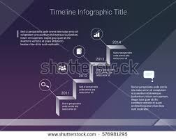 Timeline Website Template Inspiration Vector Infographics Template Timeline Icons White Stock Vector