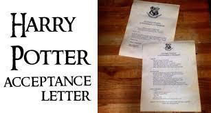 harry potter acceptance ahort
