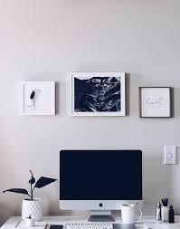 minimal office. HelloLovelyLiving.com   Minimal Home Office + Minted Custom Art Prints